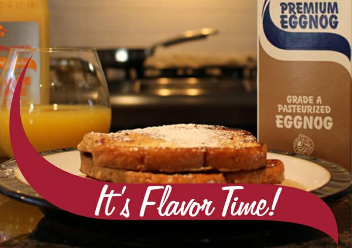 French Toast with Stewarts eggnog