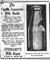 The Cream Separator Milk Bottle