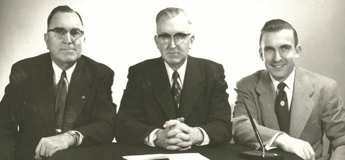 Charles S. (Charlie), right, joins his father and uncle