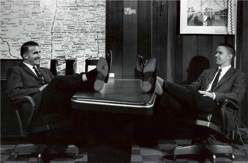 Charlie & Bill Dake in an office