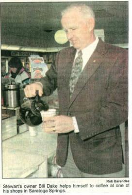 Bill Dake pouring coffee