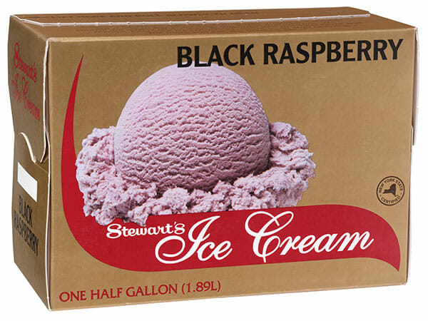 Box of Black Raspberry ice cream