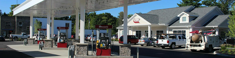 exterior of Stewart's gas station