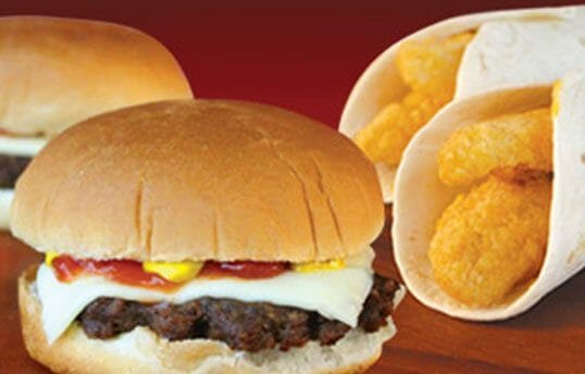 Cheeseburgers or chicken wraps