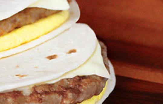Sausage egg wraps