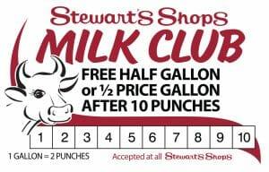 Stewart's Milk club card