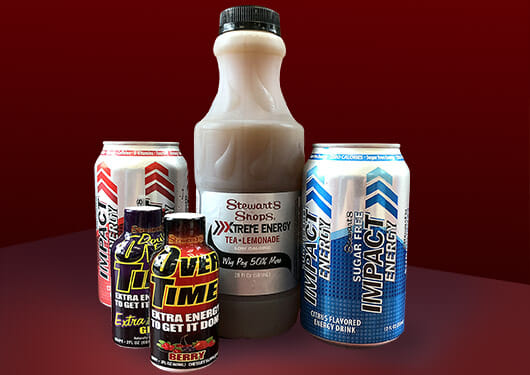 Stewart's Shops brand energy drinks. Impact, Xtreme Energy, Over Time