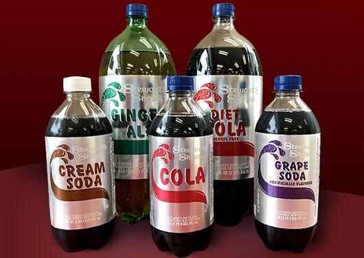 Stewart's Shops brand sodas