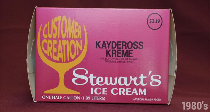 1980's Stewart's Kaydeross Kreme Ice Cream Half Gallon