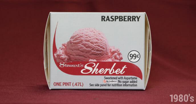 1980's Stewart's Raspberry Sherbet Pint