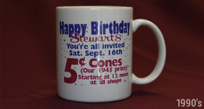 1990's Stewart's Birthday Mug