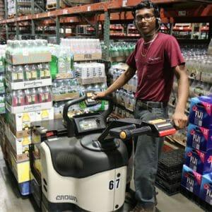 Guy on Skid Steer_Beverage cart