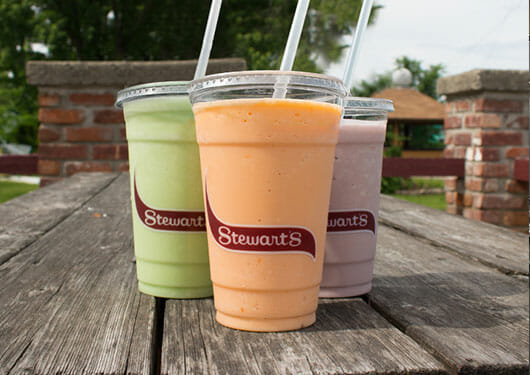 sherbet coolers on a picnic table