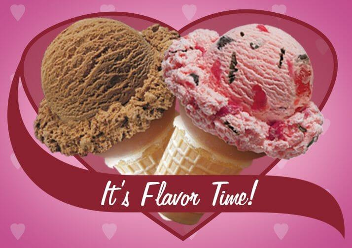 Ice cream cones in a heart
