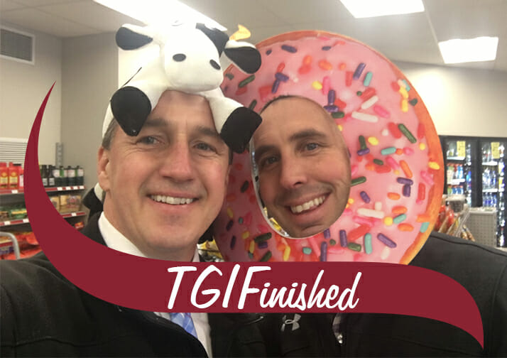 Sean and Bill Keefer at TGIF event