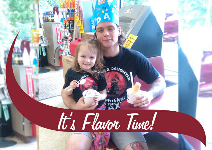 Father's Day 50 cent cones at Stewart's Shops