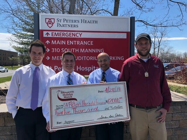 Stewart's Shops Donates to St. Peter's Hospital Foundation