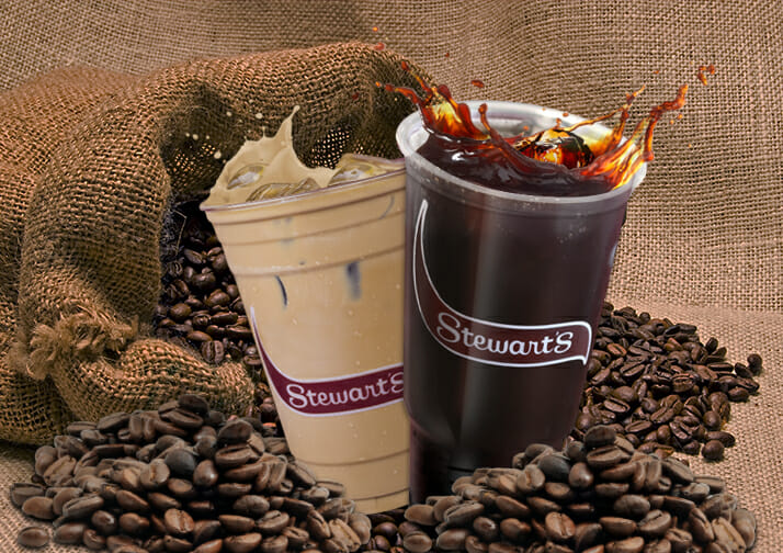 iced coffee and grounds