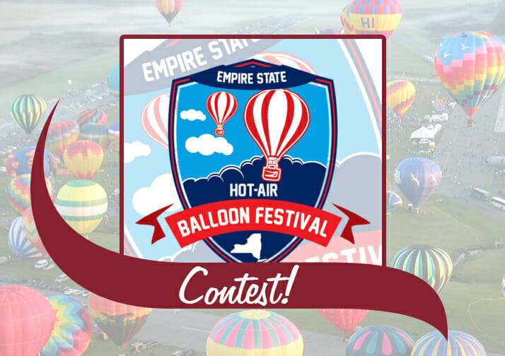 Logo for the Empire State Hot Air Balloon Festival and the word Contest.
