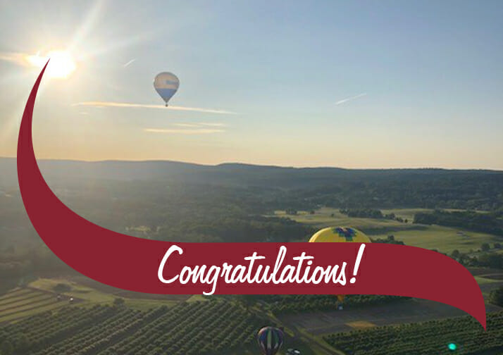 hot air balloon congratulations