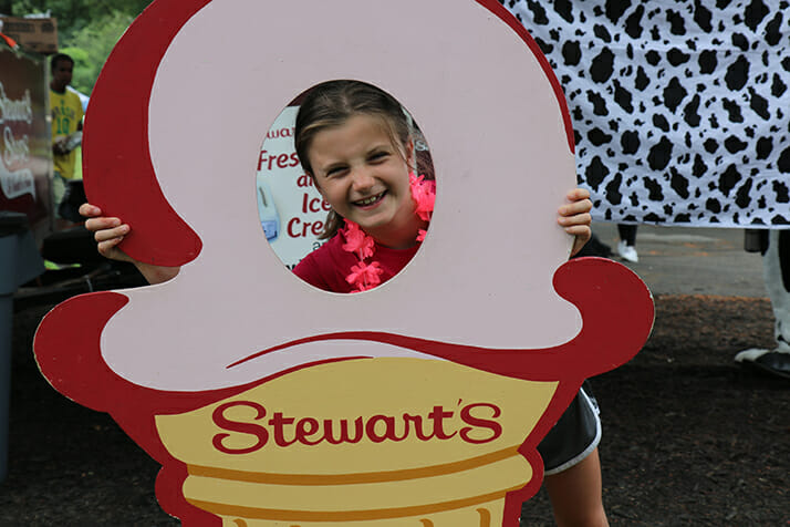 little girl in ice cream cut out