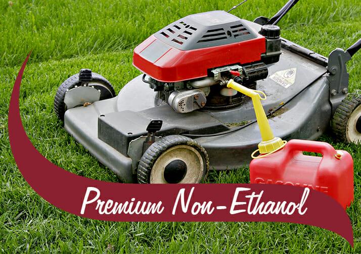 premium non-ethanol gasoline lawn mower
