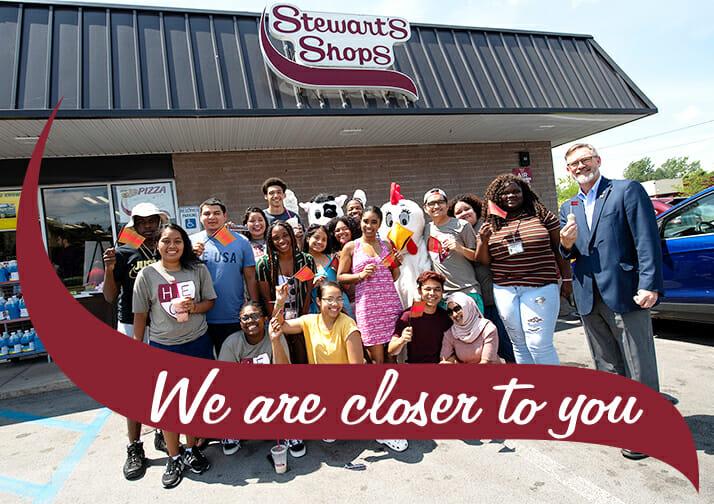 Stewart's Shops Canton Shop Ice Cream Event Group Shot