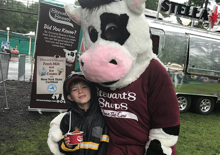 flavor mascot and young fan