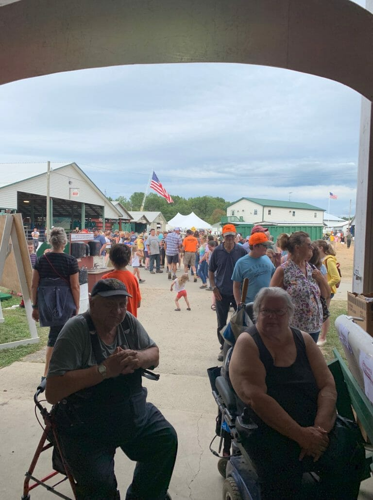 The Line for free ice cream at the Washington County Fair