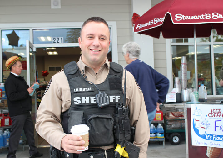 sheriff with coffee