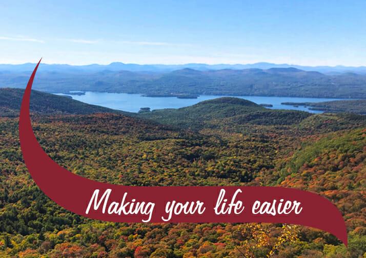 Adirondack Mountains Making Your Life Easier