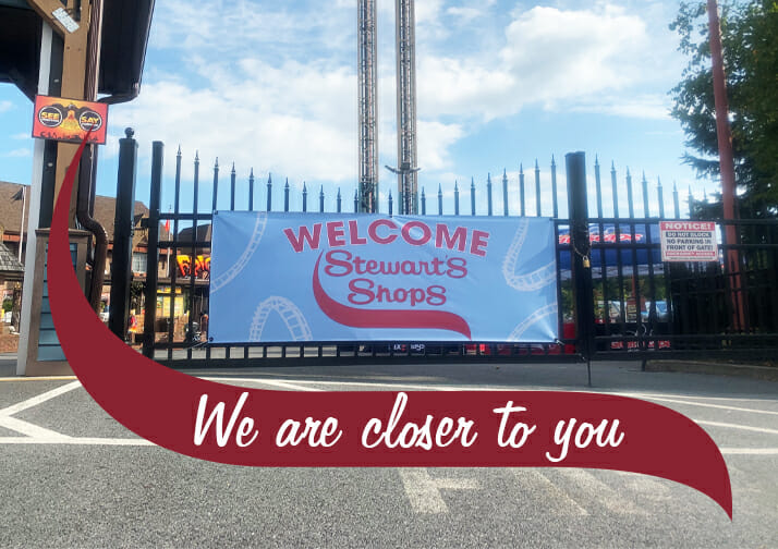 Stewart's Shops Banner at the Great Escape