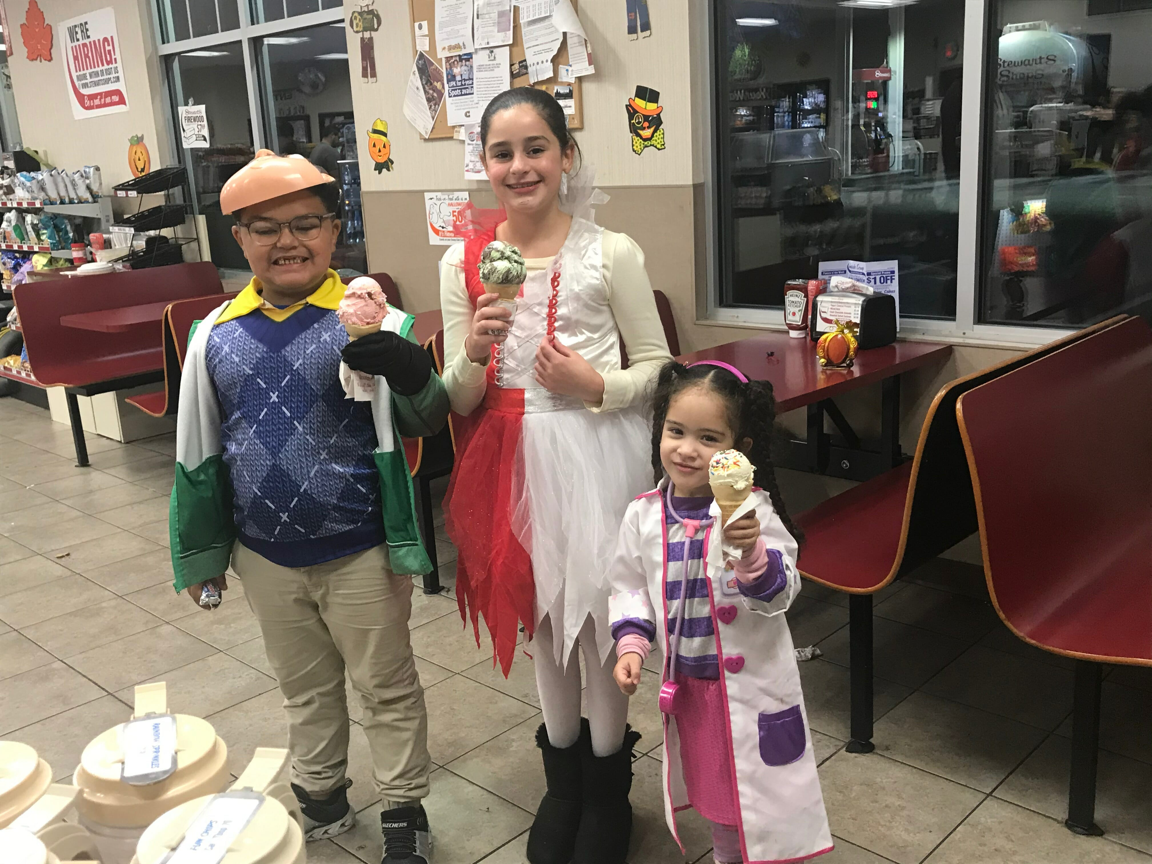 ice cream cones for the little ones at Stewart's