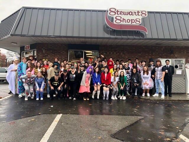 Group Halloween shot at Stewart's