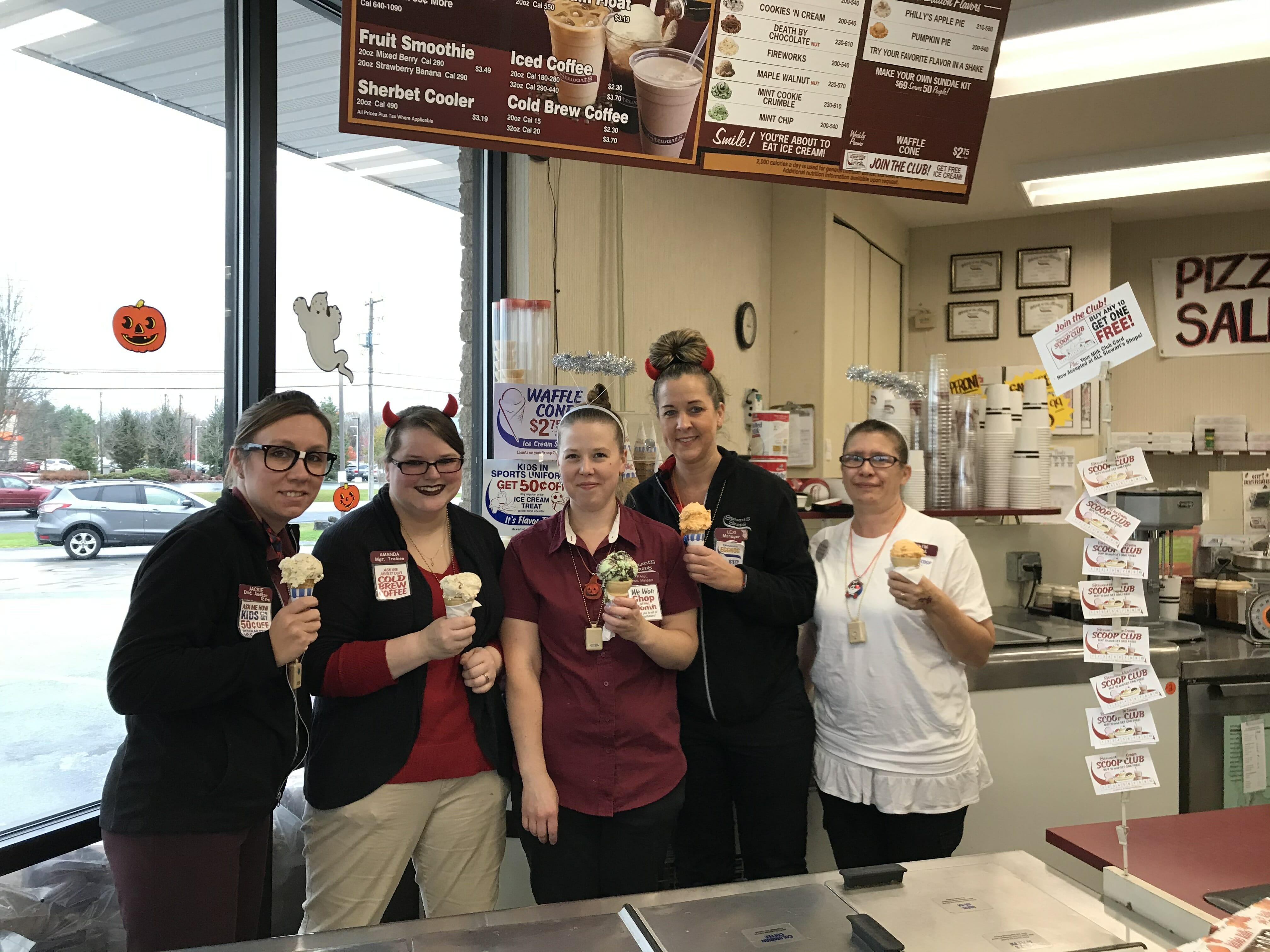 Ice cream at Stewart's