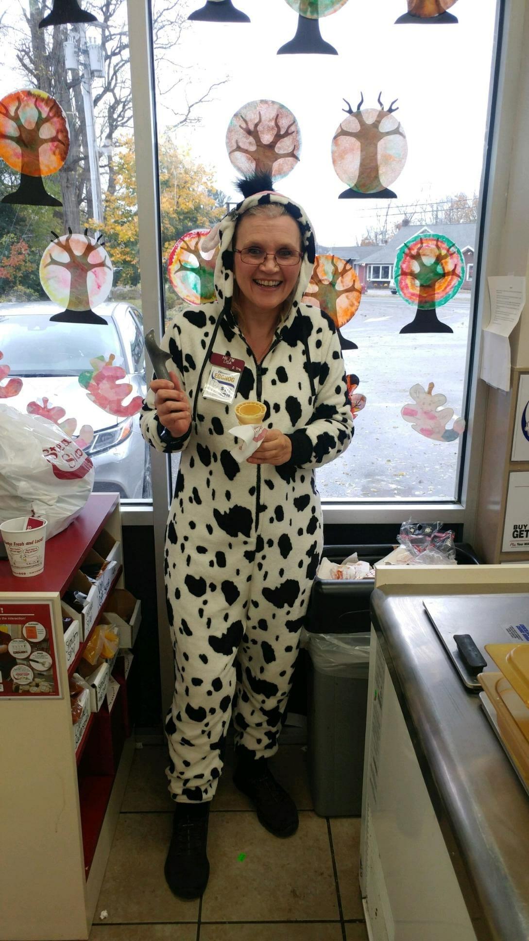 Dalmation costume for Halloween