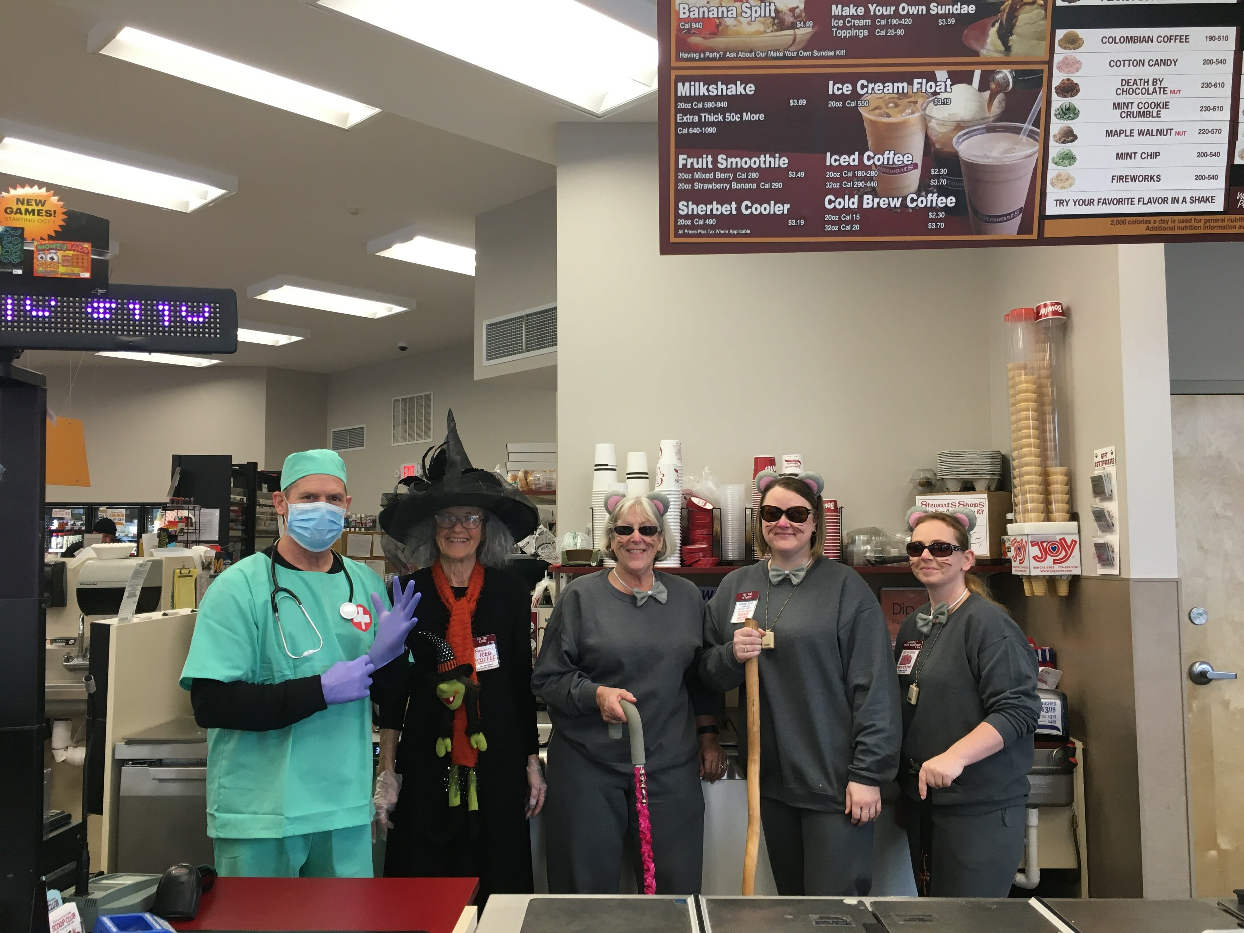 Halloween fun at Stewart's Shop