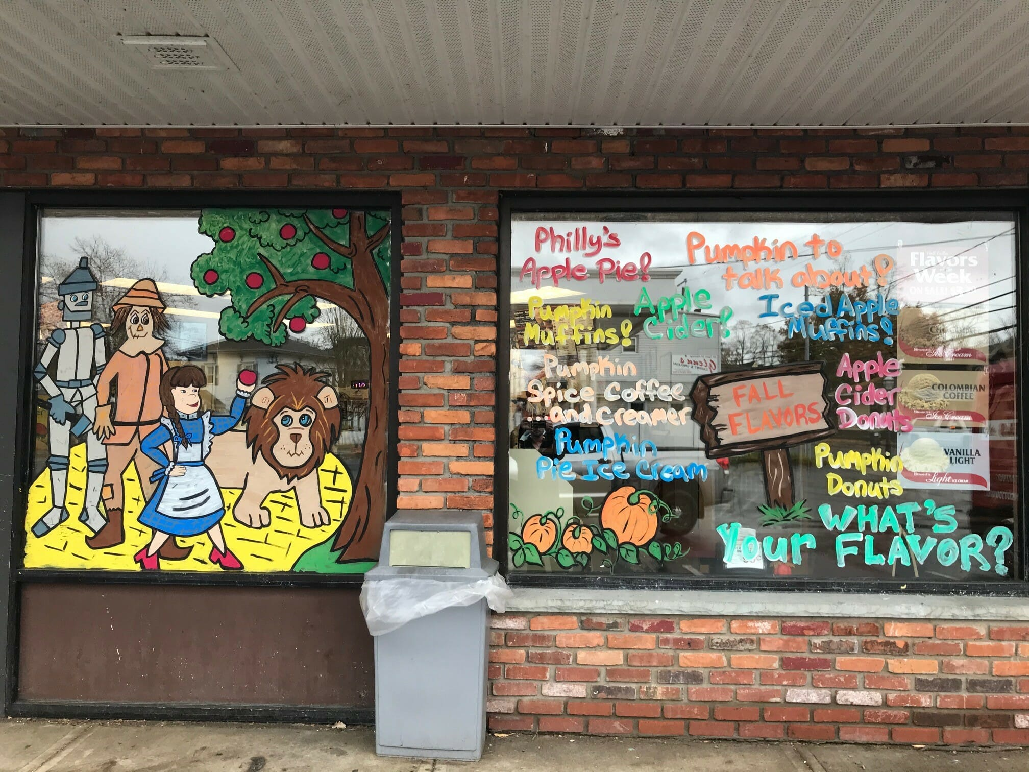 The Wizard of Oz window decorated at Stewart's Shop