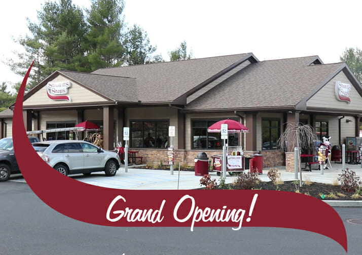 Grand Opening! The new Chestertown Stewarts shop with the wave over it.