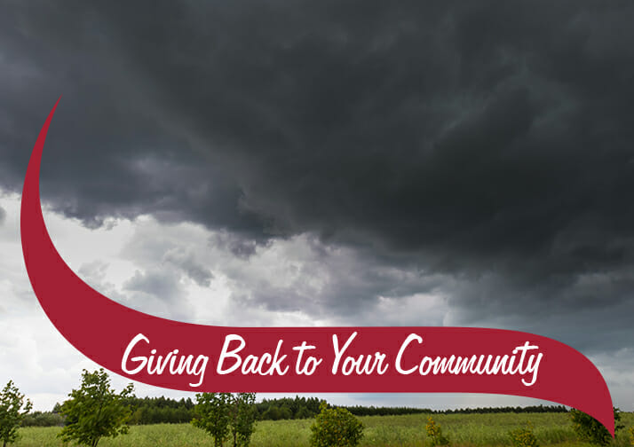 Stormy sky. Giving Back To your Community.