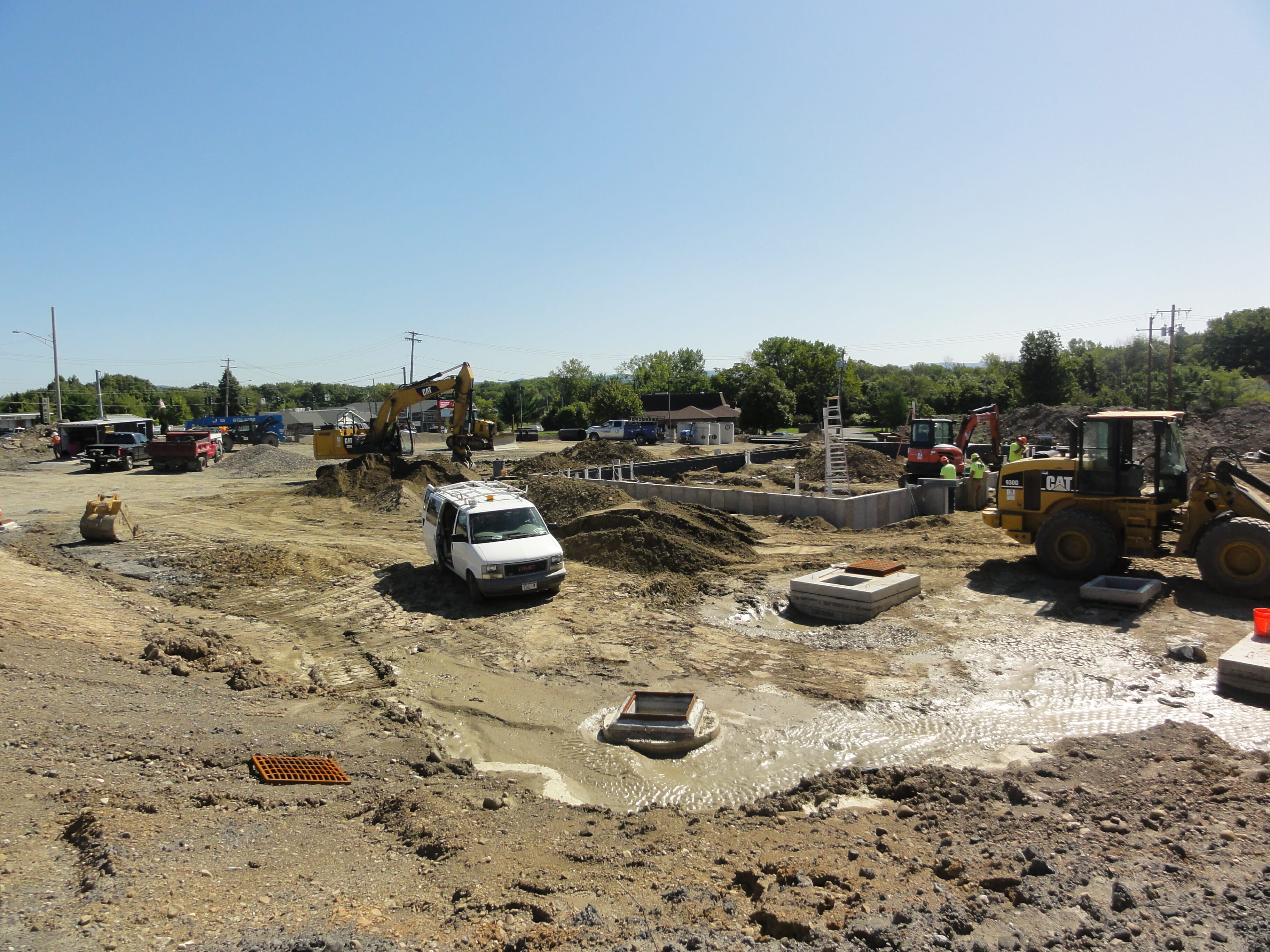 foundation being built on construction site