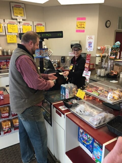 1st beer customer in Argyle