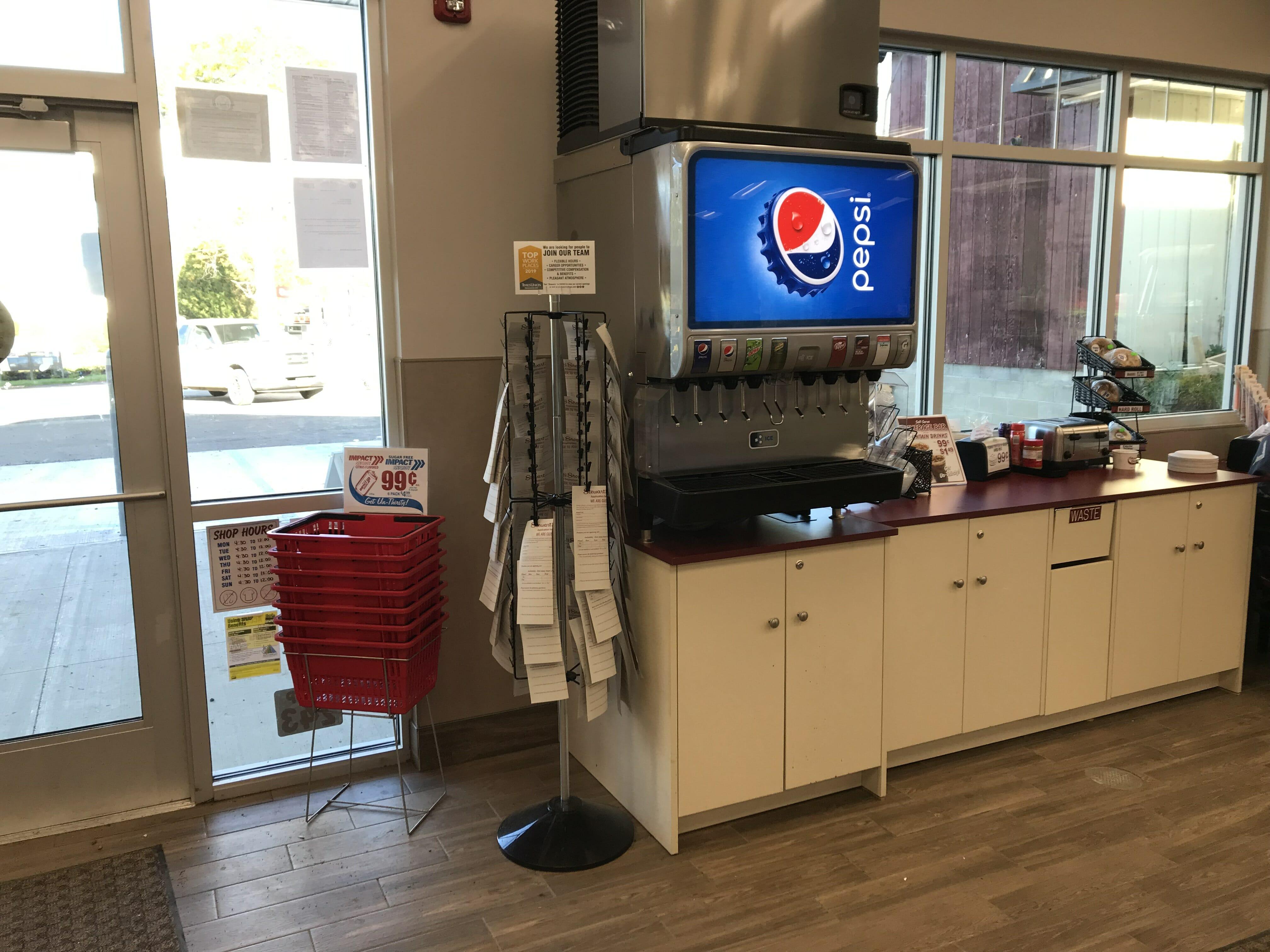 new shop interior beverages