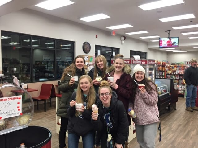 group of girls with ice cream
