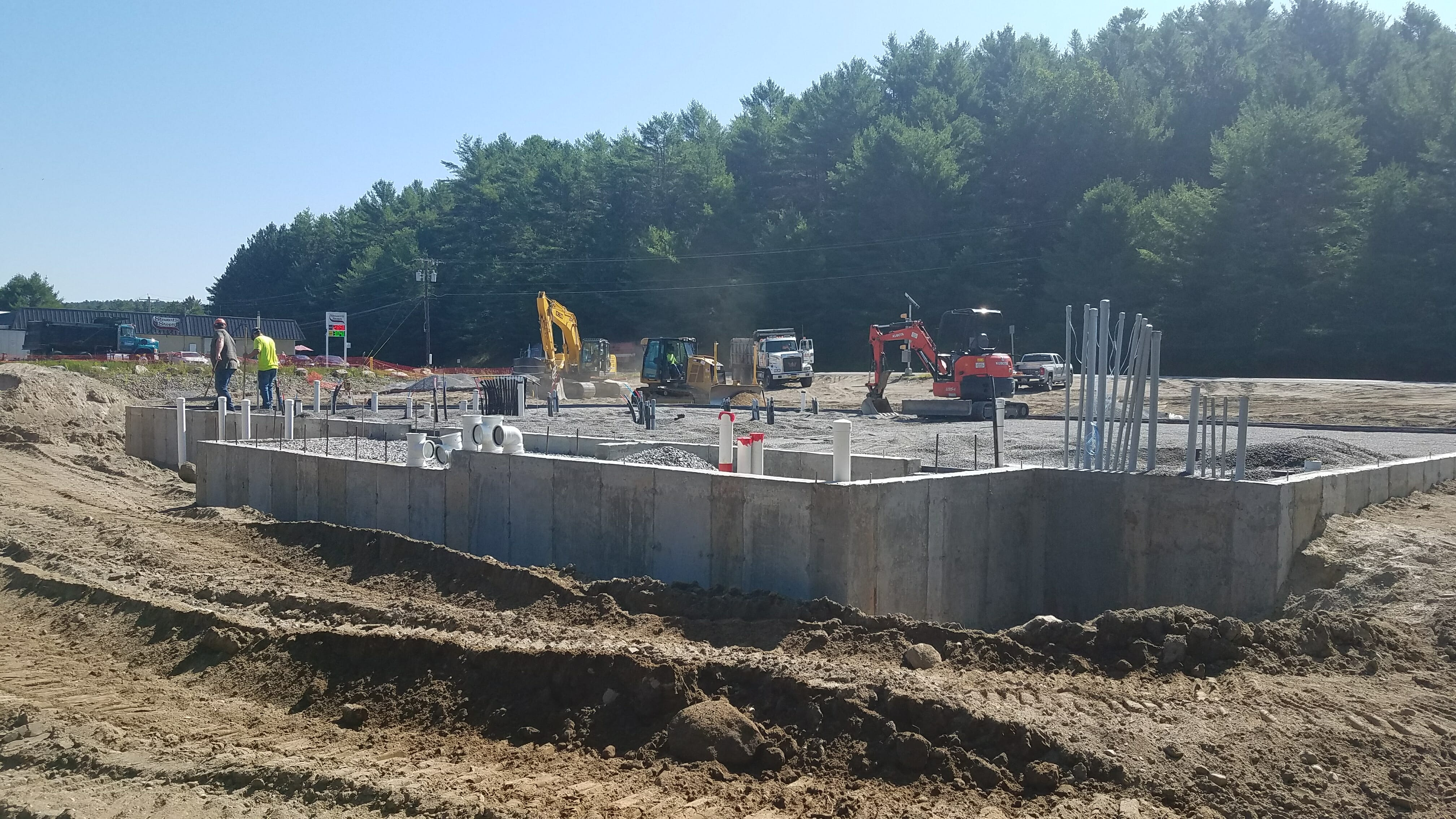 chestertown foundation being poured