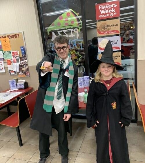 Kids in costume Harry Potter