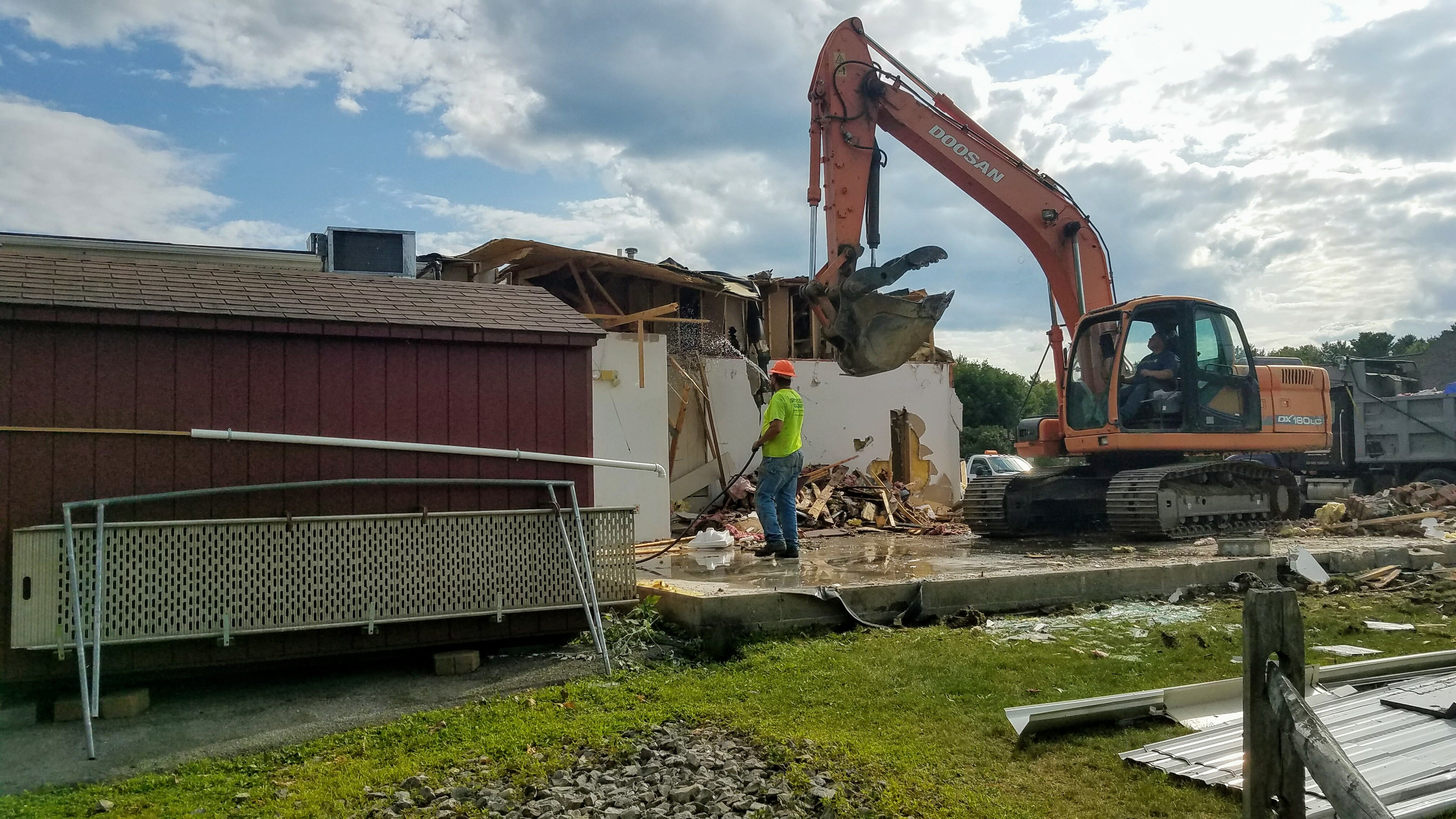 Old shop being torn down