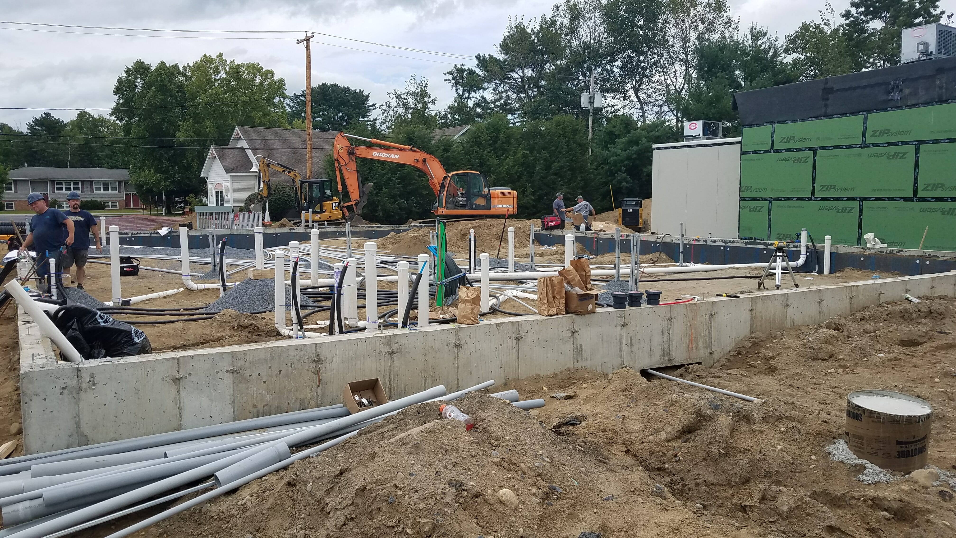 Foundation being poured