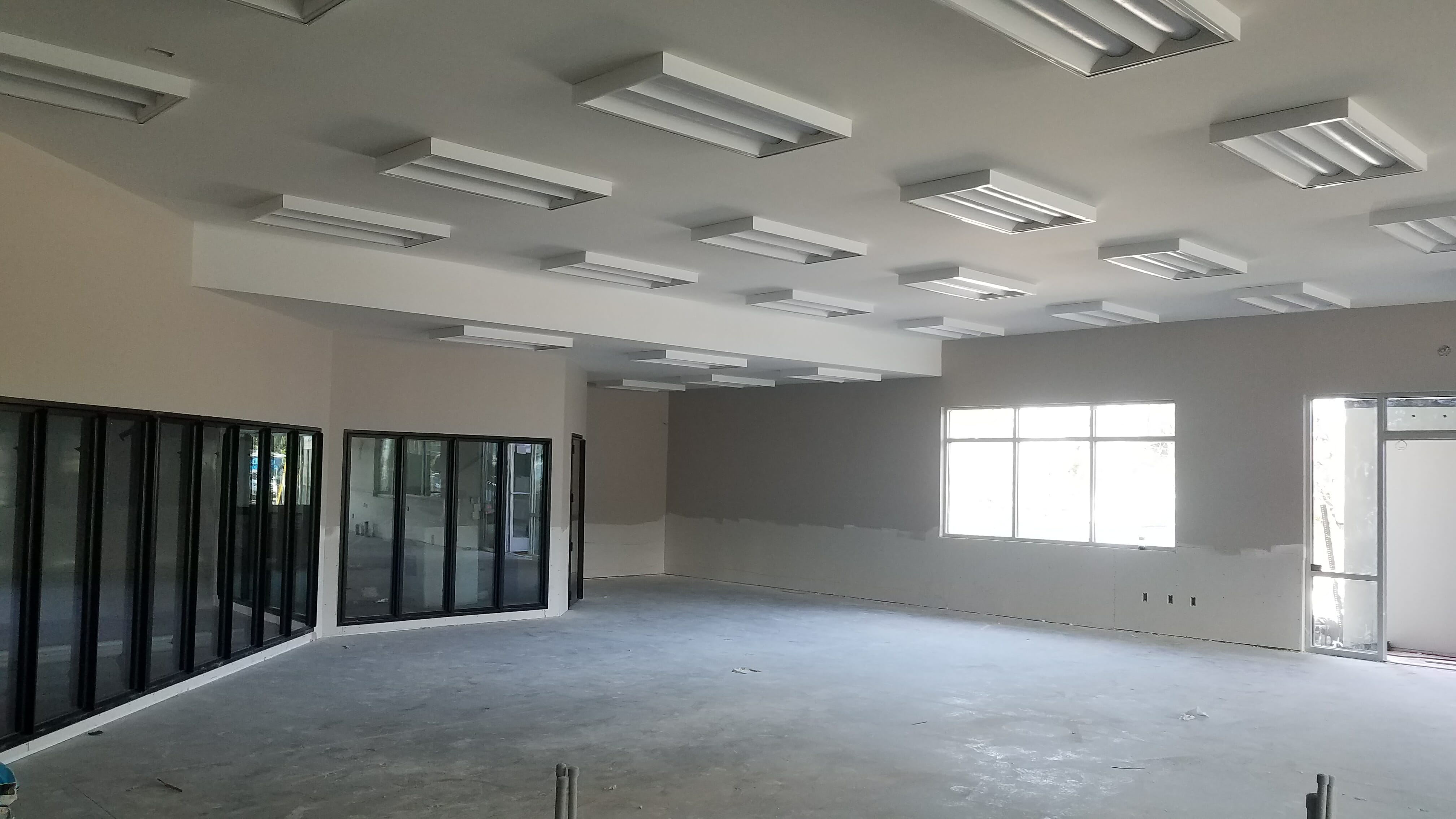 Interior of Aviation Rd being completed