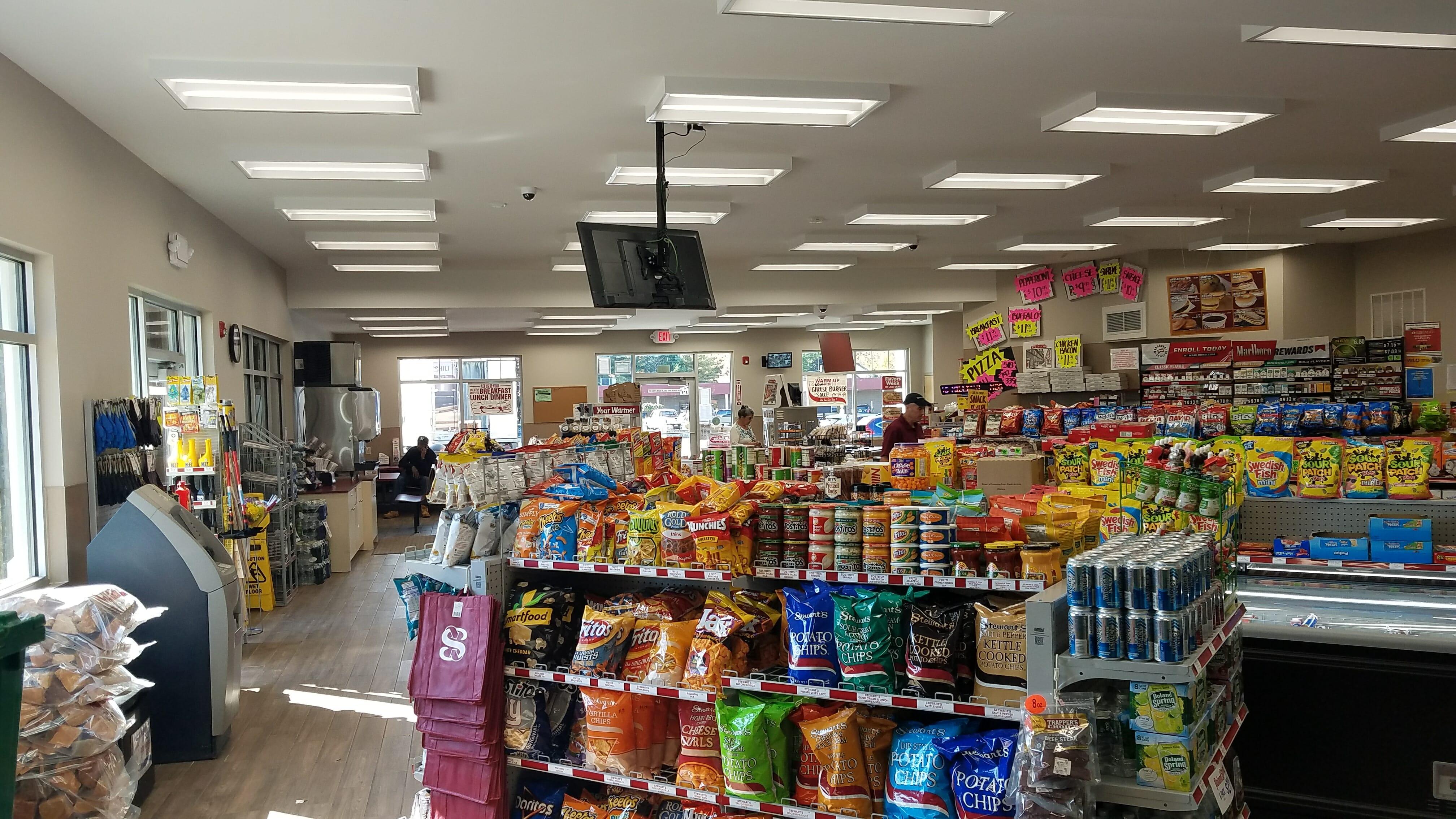 interior of shop snack isle